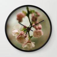 blossom Wall Clocks featuring blossom by EnglishRose23