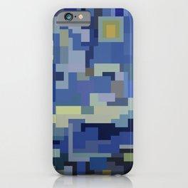 Low res pixelart the starry night 8 Bit  iPhone Case