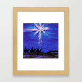 Three WiseMen Journey To Bethlehem Framed Art Print