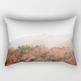 Red Atlas mountains of Ourika Morocco | Marrakech travel photography | Golden hour Rectangular Pillow