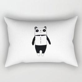 Little black and white panda Rectangular Pillow