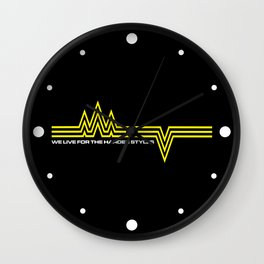 The Harder Styles Music Quote Wall Clock