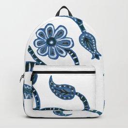 Blue Paisley Heart Backpack