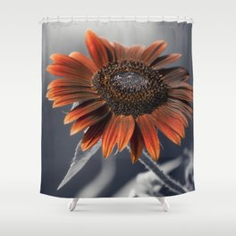 Dark Sunflower Shower Curtain