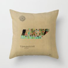 Tennessee state map  Throw Pillow