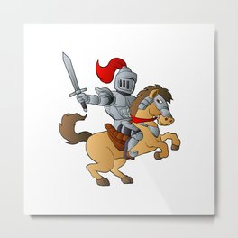 Knight on Horse Metal Print