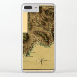 Map Of Grenada 1779 Clear iPhone Case