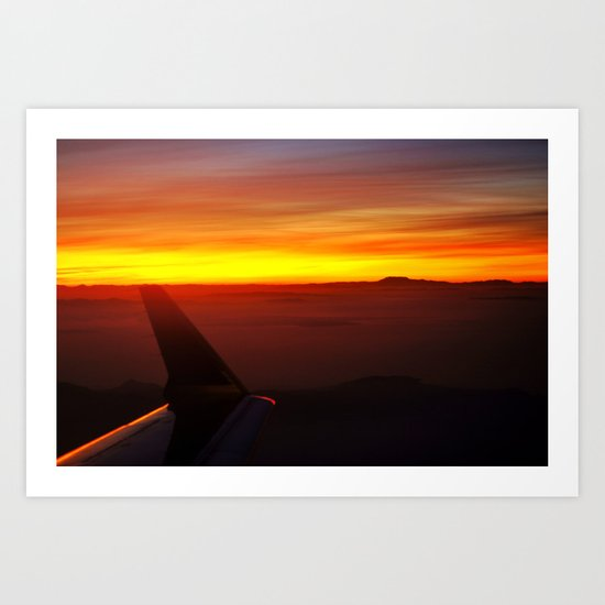 Sunset at 30,000 Feet Art Print