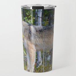 Wolf encounter in Jasper National Park Travel Mug