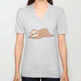 Kawaii Cute Lazy Sloth Unisex V-Neck