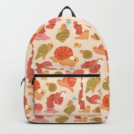 Snail and small flowers Backpack