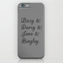 Pride and Prejudice Couples I iPhone Case