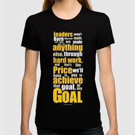 Lab No. 4 - Vince Lombardi Sport Inspirational Quotes Typography Poster T-shirt