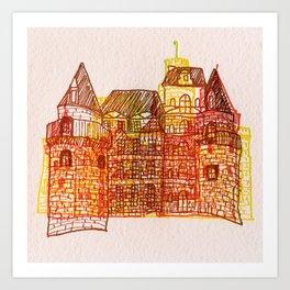 Letterpress Castle 3 Art Print