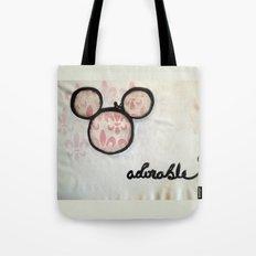 Adorable Mouse Fleur de lis Painting Tote Bag