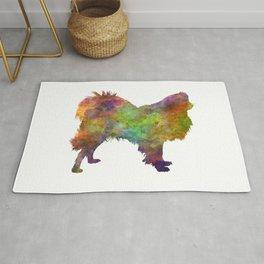 Japanese Spitz in watercolor Rug
