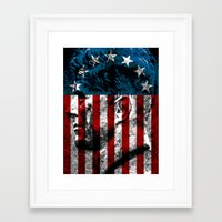 union jack Framed Art Prints featuring UNION JACK by Laertis Art