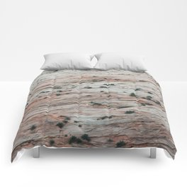 Rock Slide (Zion National Park, Utah) Comforters