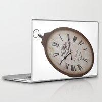wall clock Laptop & iPad Skins featuring Vintage Clock by Mirakyan