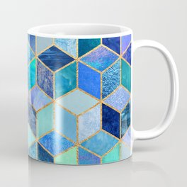 Blue Cubes Coffee Mug