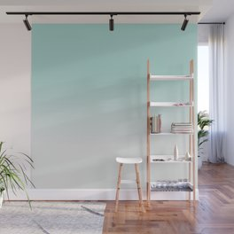 Ombre Duchess Teal and White Smoke Wall Mural