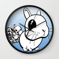 bunny Wall Clocks featuring Bunny by Bill Giersch