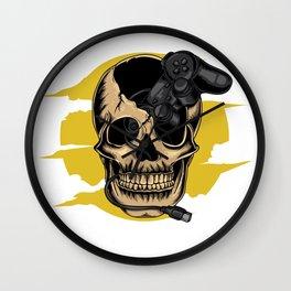 Gamer Skull Wall Clock