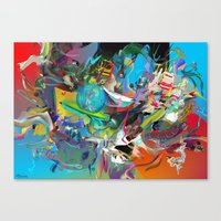 archan nair Canvas Prints featuring Microcrystalline Tendrils by Archan Nair