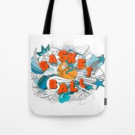 Basketball cartoon design Tote Bag