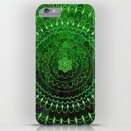 Green Flower Mandala iPhone Case