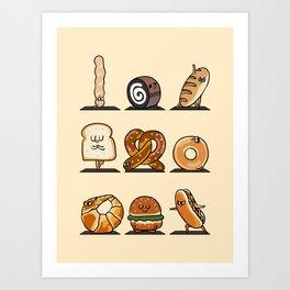 Breads Yoga Art Print