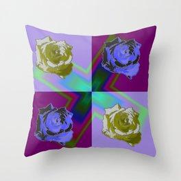 Crossroses lila Throw Pillow