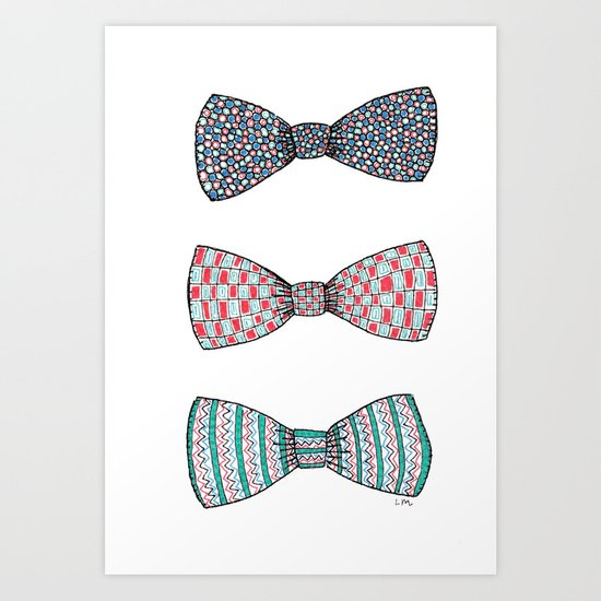 Bow Ties Art Print