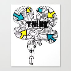 Think, dude. Canvas Print
