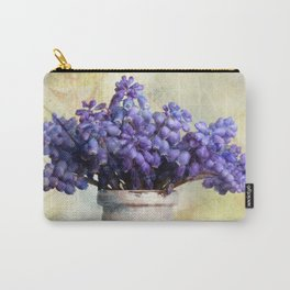Spring Botanical Muscari (Grape Hyacinth) Still Life Carry-All Pouch