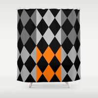 orange pattern Shower Curtains featuring Pattern orange by LoRo  Art & Pictures