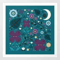 Shy Little Violets  Art Print