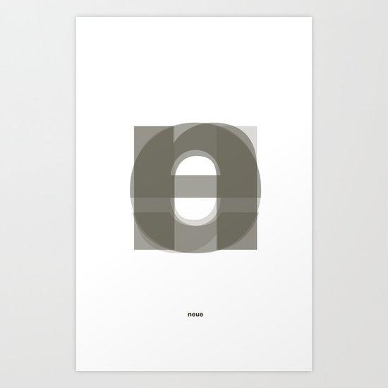 Die Neue Haas Grotesk (A-01) Art Print