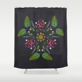 Floral Triad Shower Curtain