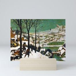 The Hunters in the Snow (winter) by Pieter Bruegel the Elder (1565) Mini Art Print