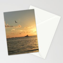 Mexican Sunset Across the Ocean Stationery Cards