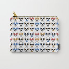 Cute Skulls No Evil II Pattern Carry-All Pouch