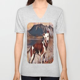 Hunting Dog by the Lake Unisex V-Neck
