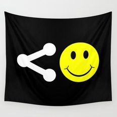 Share Happiness Wall Tapestry