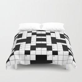 Cool Crossword Pattern Duvet Cover
