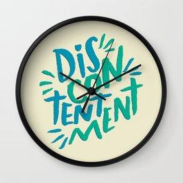 Discontentment Wall Clock