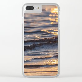 Gentle Sunkissed Wave Clear iPhone Case