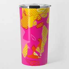 Neon Leaves Travel Mug
