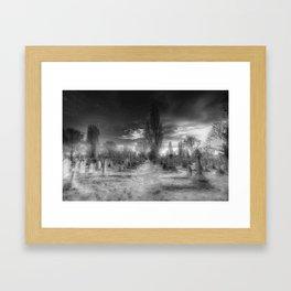 Ghostly Kensal Green Cemetery London Framed Art Print