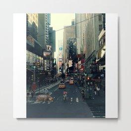 Downtown Hippo Metal Print